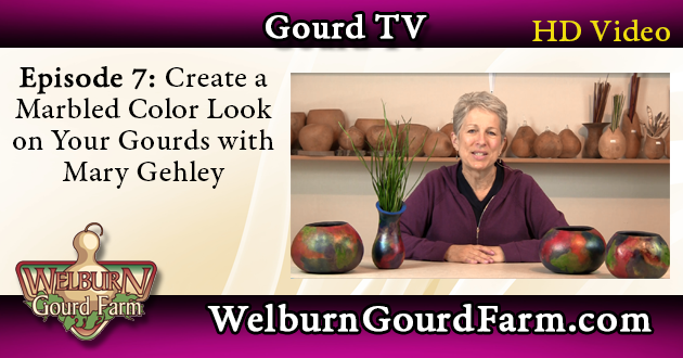 Episode 7: Create a Marbled Color Look on Your Gourds with Mary Gehley