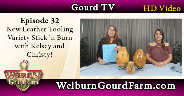 32: Look at the New Leather Tooling Variety Pack Stick 'n Burn with Kelsey and Christy