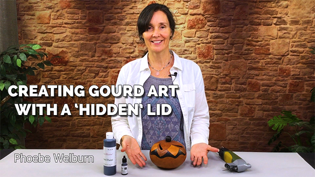 47: Creating Gourd Art with a Hidden Lid